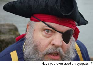 pirate with eyepatch